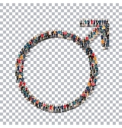 male sign isometrick people 3d vector image vector image