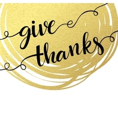 Thank you hand lettering on splash golden textured vector image vector image