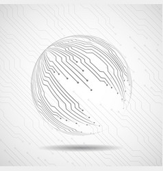 abstract ball of circuit board vector image