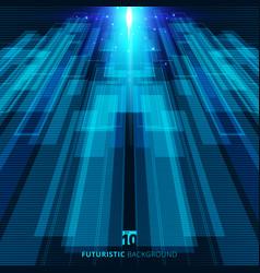 Abstract blue virtual technology concept vector