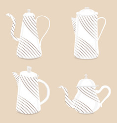 abstract logo for ceramic teapot vector image