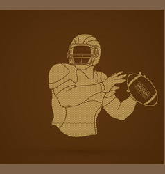 American football player action vector