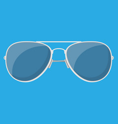 Aviator sunglasses protective eyewear vector