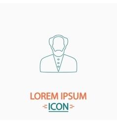 Bald Man computer symbol vector