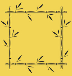 Bamboo frame square geometric shape blank vector