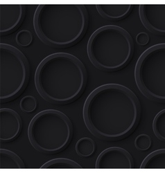 Black abstract seamless pattern with circles vector