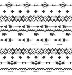 Black and white navajo aztec seamless vector