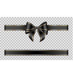 black gold bow vector image