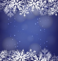 Blue Christmas Background vector image