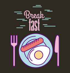 Break fast food vector
