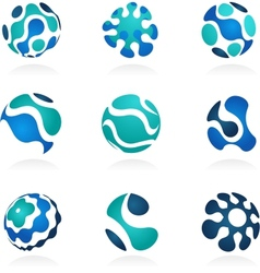 Business abstract icons set vector