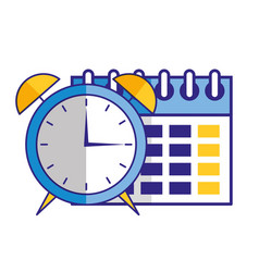 business calendar reminder and clock vector image