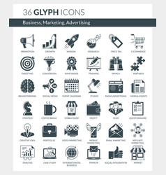 Business marketing advertising icons vector