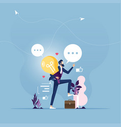 Businessman get great idea-creative concept vector vector