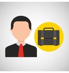 Businessman movie portfolio business icons vector