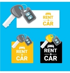 car rent concept flat banner vector image