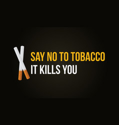 collection no tobacco day banner vector image