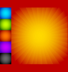 colorful starburst sunburst background set vector image