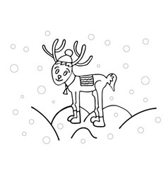 Coloring book for children new year theme vector