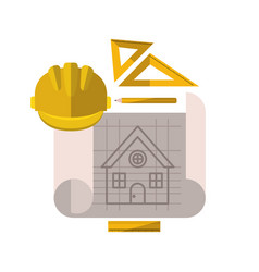 Construction plan isolated icon vector