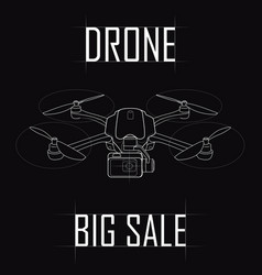 contour drawing of the drone big sale vector image