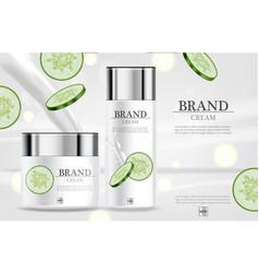 cucumber cream moisturizer hydration vector image