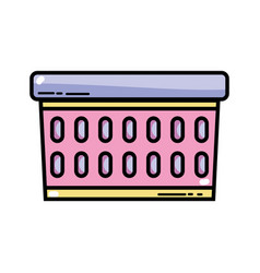 Cute basket for dirty clothes design vector