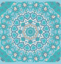 cute doodle unusual seamless design festive blue vector image