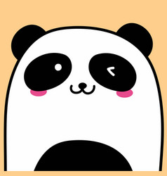 cute panda background vector image