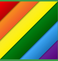 diagonal lgbt rainbow flag gay colors vector image