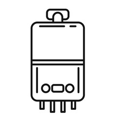 Domestic boiler icon outline style vector