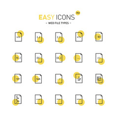 Easy icons 34d file types vector