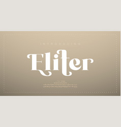 elegant luxury alphabet letters font classic vector image