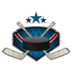 emblem of the hockey team vector image