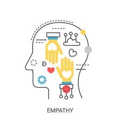 Empathy concept vector