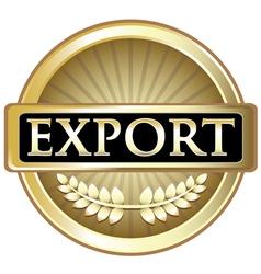 Export Gold Emblem vector image