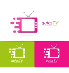 Fast television logo combination Speed vector