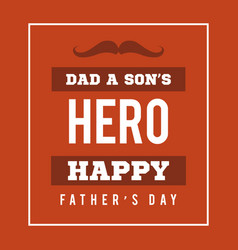 Father day background card red vector