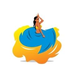 Flamenko dancer Cartoon vector