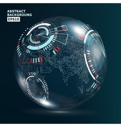 Futuristic Globalization Interface Earth Science vector