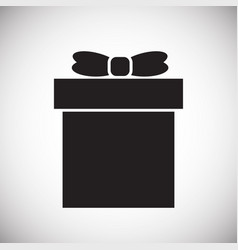 gift icon on white background for graphic and web vector image