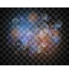 Glittering stars on vintage lights bokeh vector