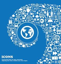 Globe icon sign Nice set of beautiful icons vector image
