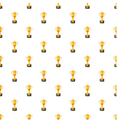 Golden winner cup pattern vector
