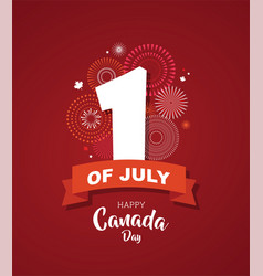 Happy canada day poster 1st july vector