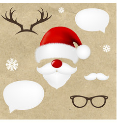 Hipsters christmas set vector