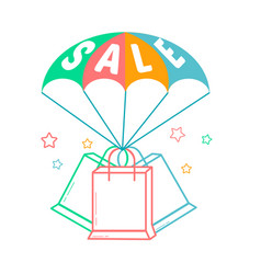 Icon of the parachute sale vector