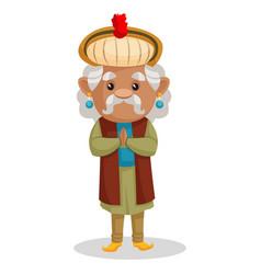King akbar cartoon character vector