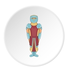 Knight icon cartoon style vector