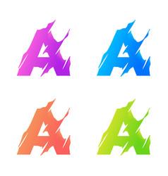 letter a logo template design vector image